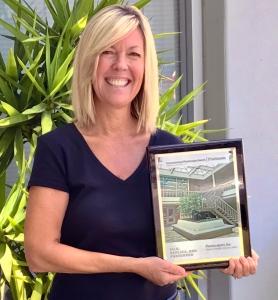 Susi wins another platinum award for her design work.